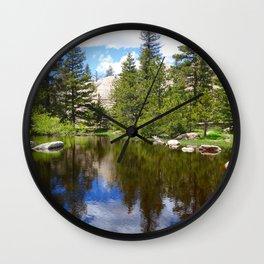 Fresh Rocky Mountain Snow Melt Lake Wall Clock