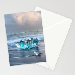 """Diamonds Are Forever"" - Diamond Beach, Iceland Stationery Cards"