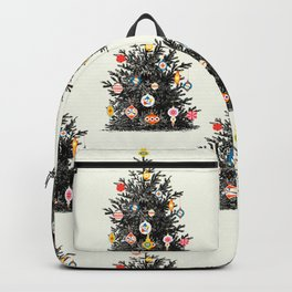 Retro Decorated Christmas Tree Backpack