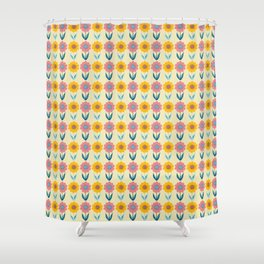 Hello Sunshine Sunflower Shower Curtain