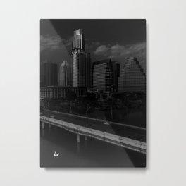 The Lone Swan State Metal Print