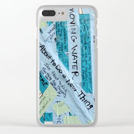 Layered Voices Clear iPhone Case