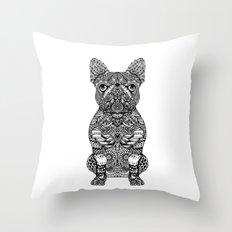 Mandala Frenchie Throw Pillow
