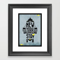 New York prayer Framed Art Print