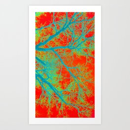 Orange Tree Phone Art Print