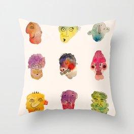 OUR FACES Throw Pillow