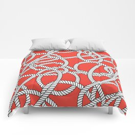 Red Rope Pattern Comforters