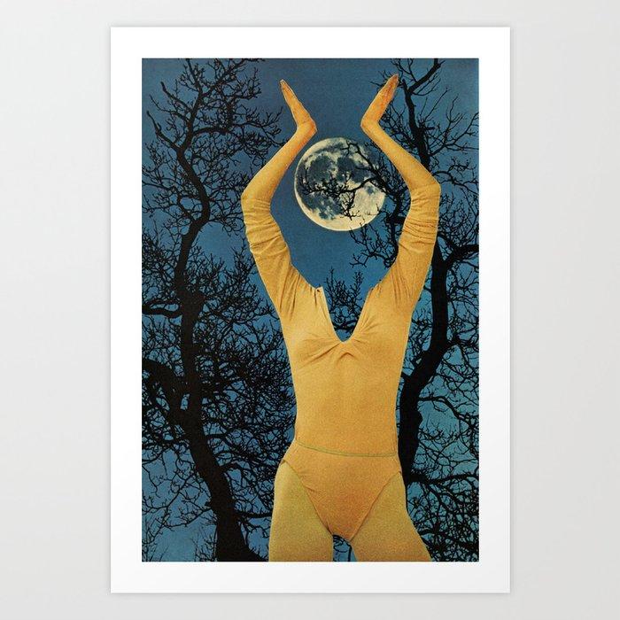 Moonlady Art Print