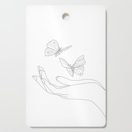 Butterflies on the Palm of the Hand Cutting Board