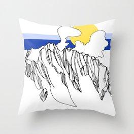 Rocky Ridges Throw Pillow