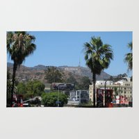 hollywood Area & Throw Rugs featuring Hollywood by Elizabeth Tompkins