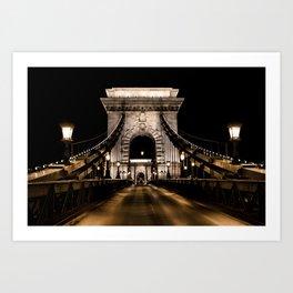 Széchenyi Chain Bridge // Budapest, Hungary Art Print