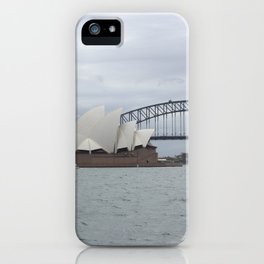 Sydney Opera House and Harbour Bridge iPhone Case