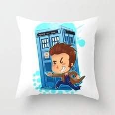 Allons-y!!!!! Throw Pillow