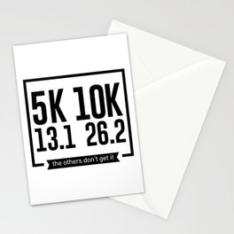 5K 10K 13.1 26.2 Runners Running Marathon Race Stationery Cards