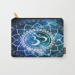 Om Mandala : Blue Green Galaxy Carry-All Pouch
