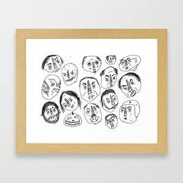 Horrible Faces Framed Art Print
