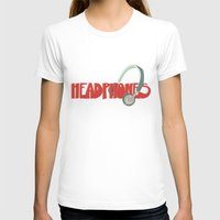 headphones T-shirts featuring Headphones by Zachary Perry