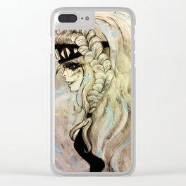 Fantasy Winter Warrior Clear iPhone Case