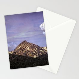 Winter Mountain and Dynamic Clouds Stationery Cards