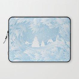 Winter background Laptop Sleeve
