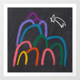 Rainbow Mountain Art Print