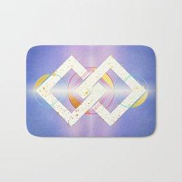 Linked Lilac Diamonds :: Floating Geometry Bath Mat