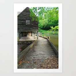 Philipsburg Manor, Water Mill ,Sleepy Hollow NY Art Print