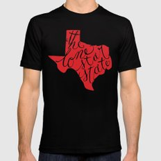 The Lone Star State - Texas Mens Fitted Tee Black MEDIUM