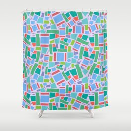 Shapes of Hackney - four sides Shower Curtain