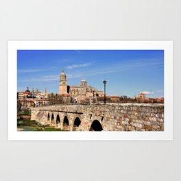 Ancient Roman Bridge at Salamanca, Spain Art Print