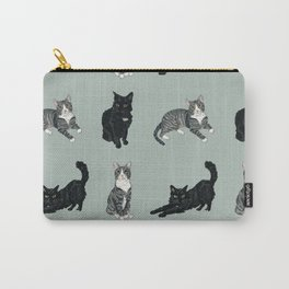 Mint Kitties Carry-All Pouch