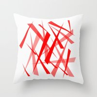 chaos Throw Pillows featuring chaos by Sébastien BOUVIER