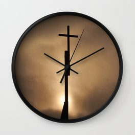 The cross in the #sky Wall Clock