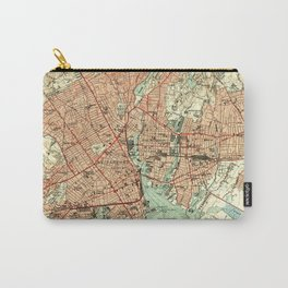 Vintage Map of Bridgeport Connecticut (1951) 2 Carry-All Pouch