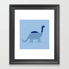 bathing dino Framed Art Print