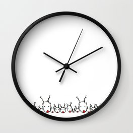 Reindeer Family Wall Clock