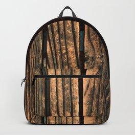 Urban Industrial Repurposed Wooden Planks Backpack