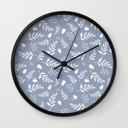 Serene Coordinate Cornflower Wall Clock