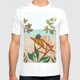 Vacay Book Club #illustration #tropical T-shirt