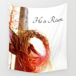 He is Risen Wall Tapestry