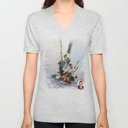 Bodegón de flores/Natureza morta de flores/Still life of flowers Unisex V-Neck