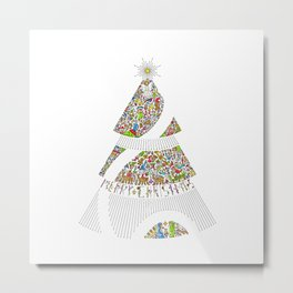 Christmas Tree / Nativity Scene Metal Print