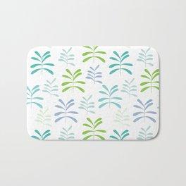 Bromeliads - sea glass Bath Mat