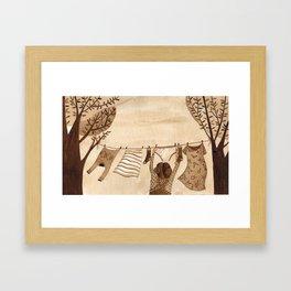 Tendedero Framed Art Print