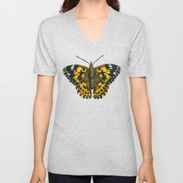 Painted lady butterfly Unisex V-Neck