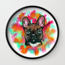 French Bulldog Frenchie Explosion Wall Clock