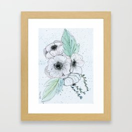 Anemone 2 Framed Art Print
