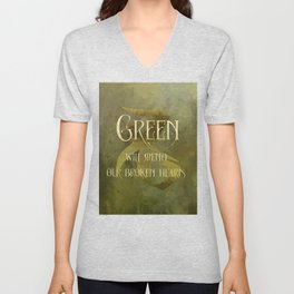 GREEN will heal our broken hearts. Shadowhunter Children's Rhyme. Unisex V-Neck