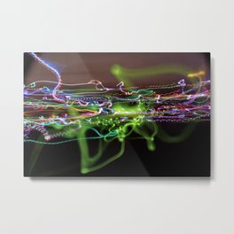 Light Painting #6 - Emission Metal Print